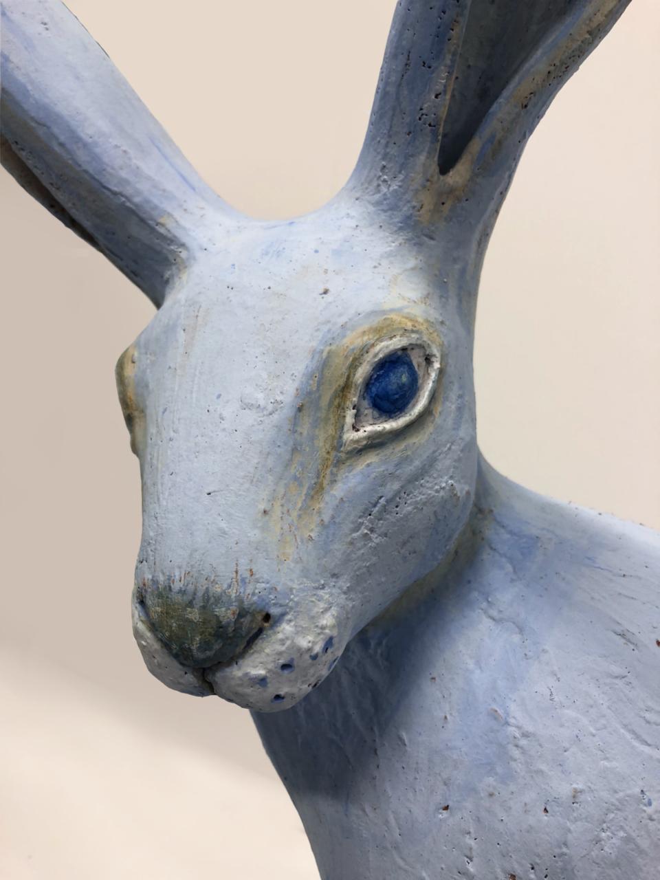 Jenny Rowe Blue Hare Detail