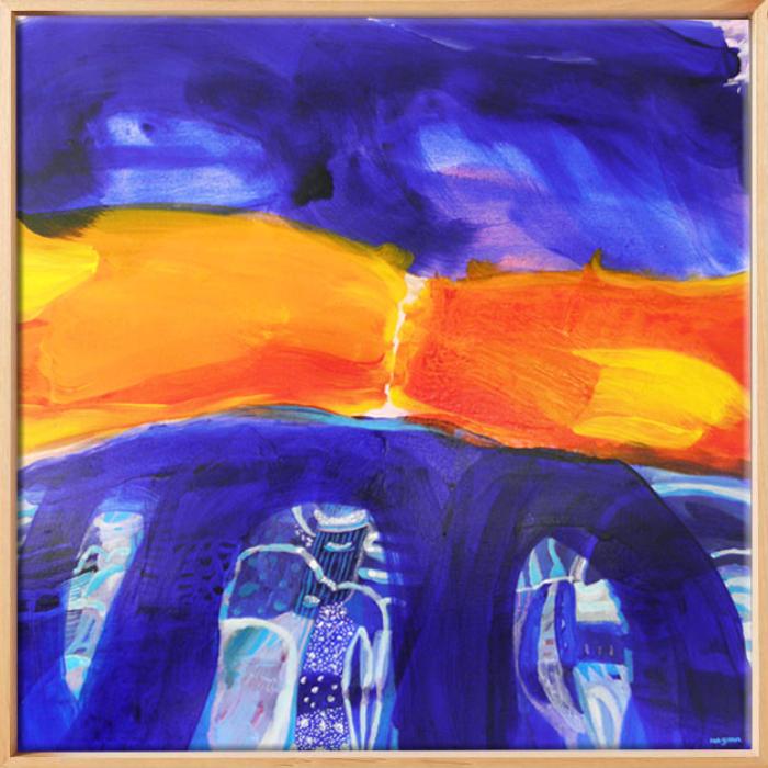 Ian Gunn Blue Hills At Sunset