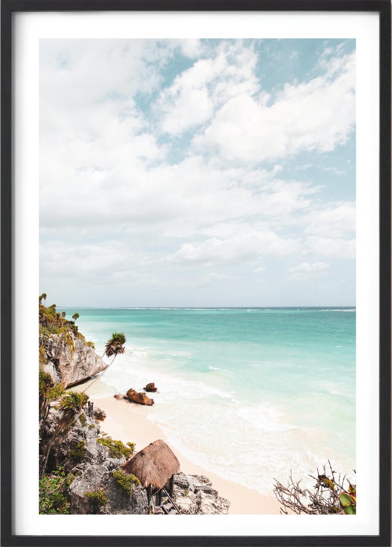 Michelle Schofield Caribbean Coast black Framed photographic print