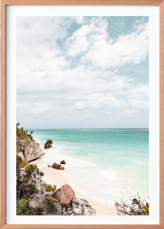 Michelle Schofield Caribbean Coast raw Framed photographic print