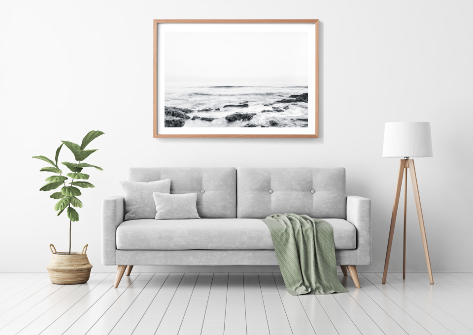Endless Waves Grey Sofa Mockup