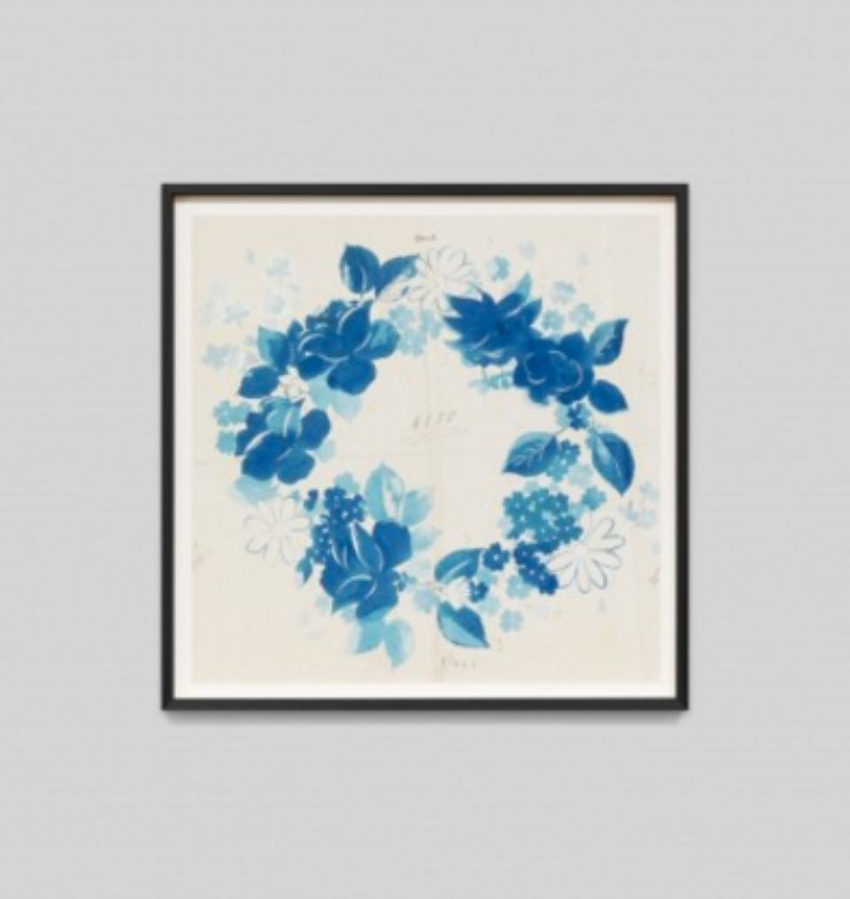 Paule Marrot Fleur Couronne Bleu F2