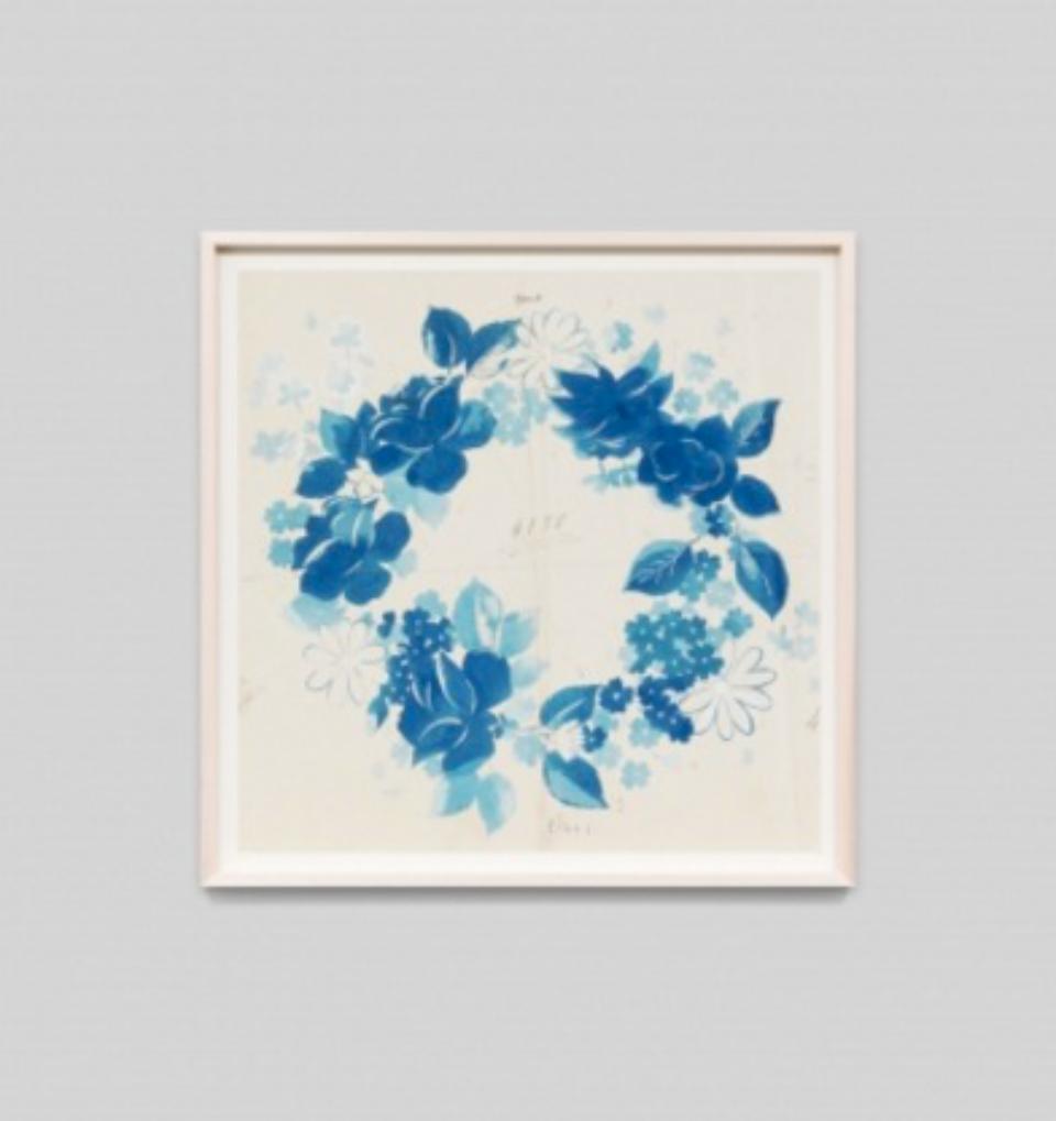 Paule Marrot Fleur Couronne Bleu F3