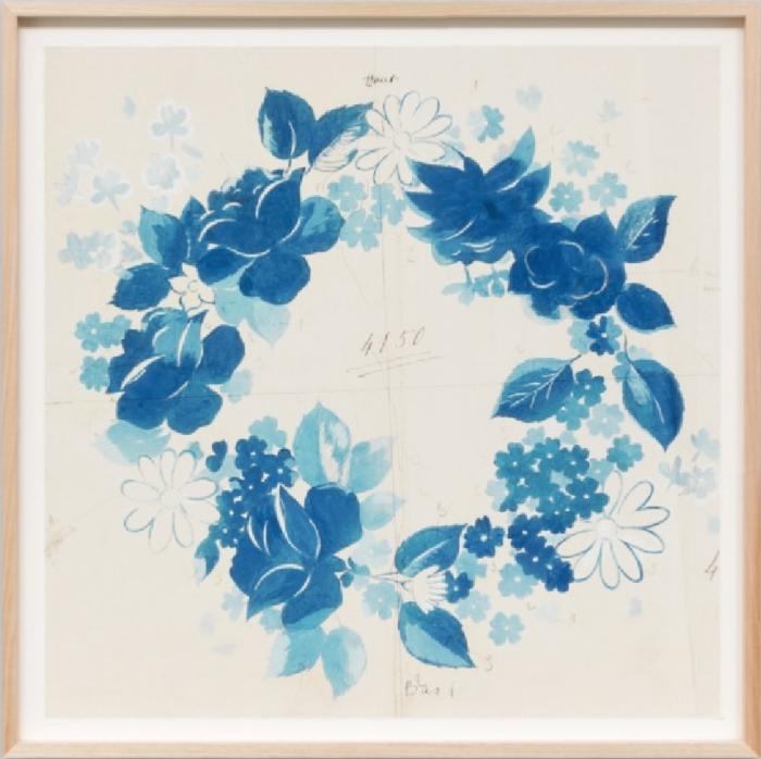 Paule Marrot Fleur Couronne Bleu 05