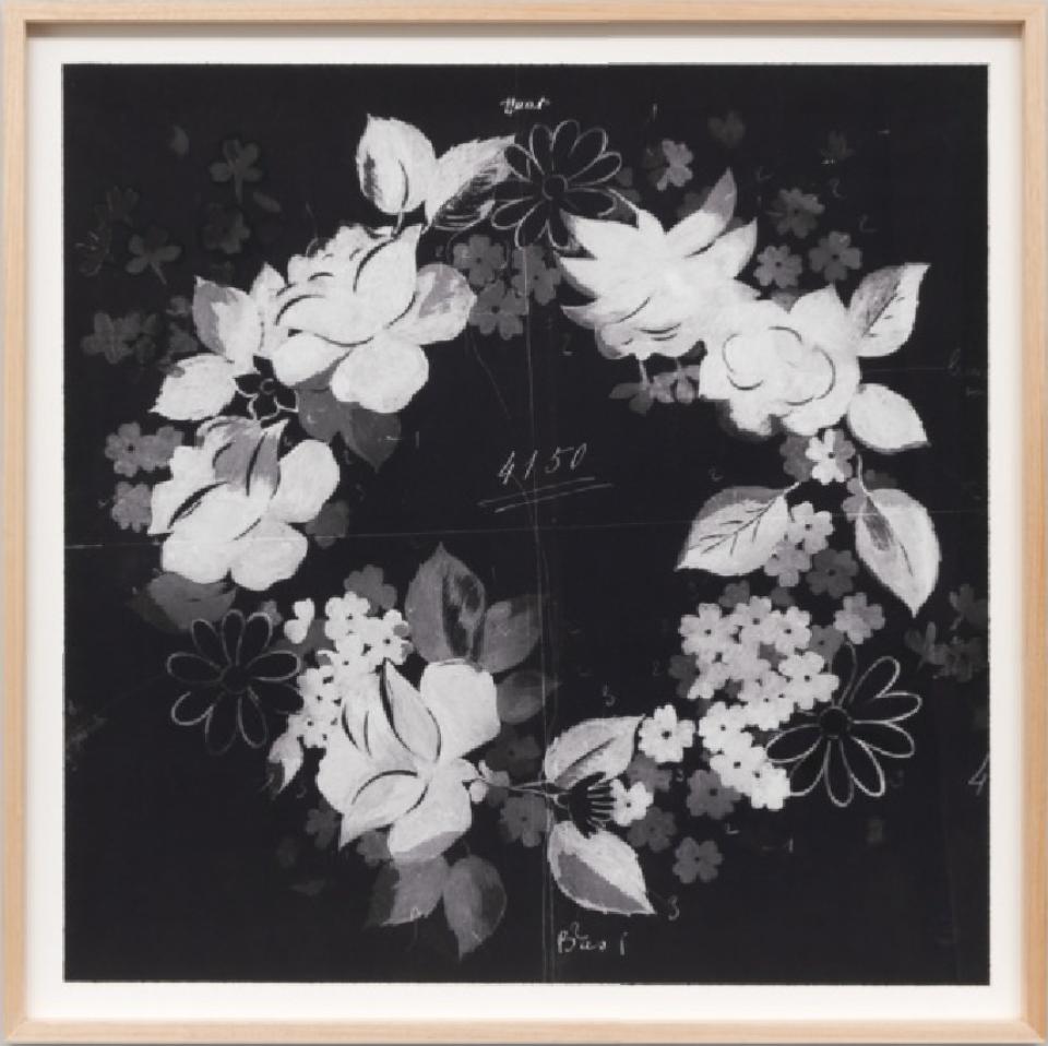 Paule Marrot Fleur Couronne Noir 06