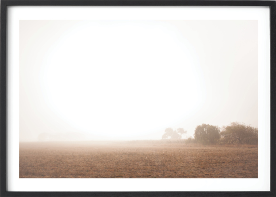 Michelle Schofield foggy autumn mornings Black Frame