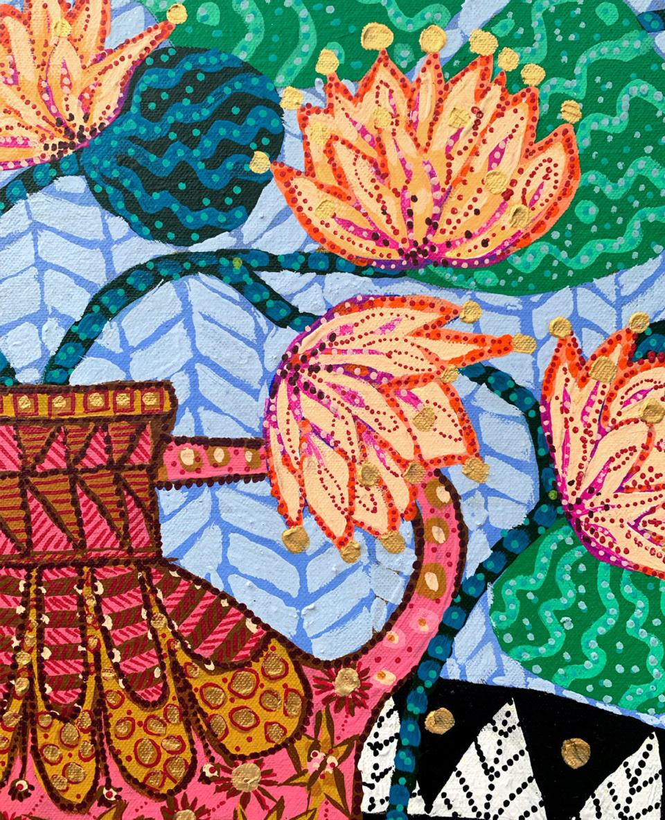 Sarah Rowe Golden Lotus detail