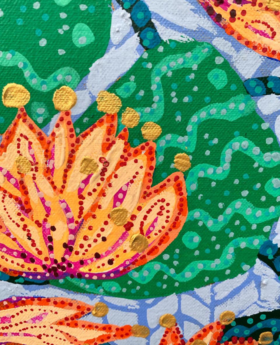 Sarah Rowe Golden Lotus detail3
