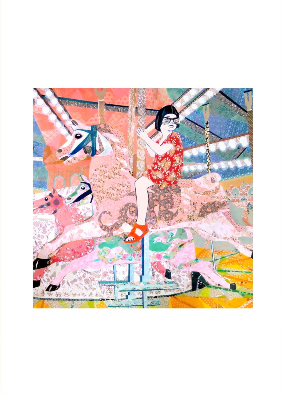 Leah Mariani Life is a Merry Go Round Art Print cc