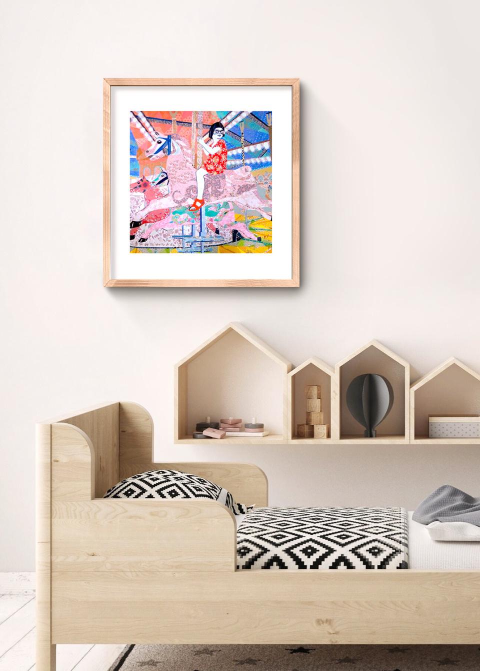 Leah Mariani Life is a Merry Go Round Art Print insitu