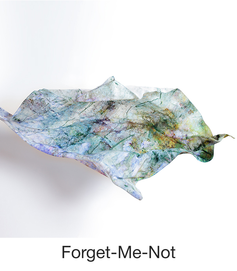 Susan Trigg Scarf Fly Forget me not