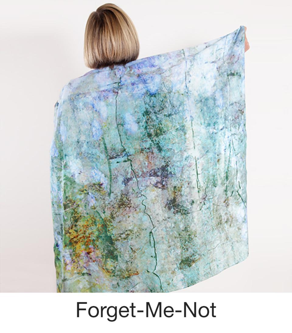 Susan Trigg Scarf Model Forgetmenot