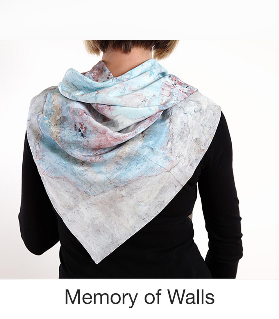 Susan Trigg Scarf Model Memory of walls