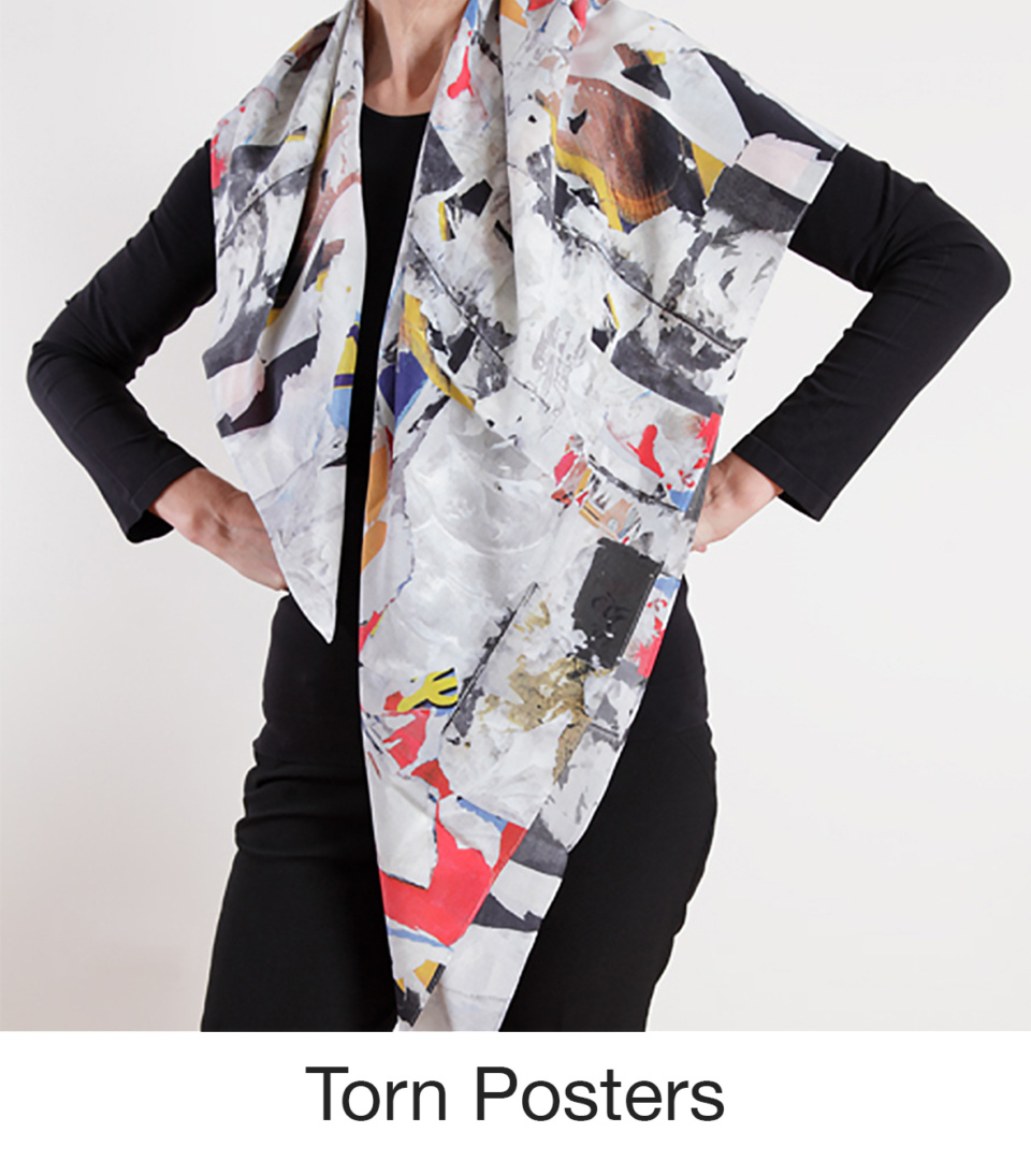 Susan Trigg Scarf Model Torn Poster