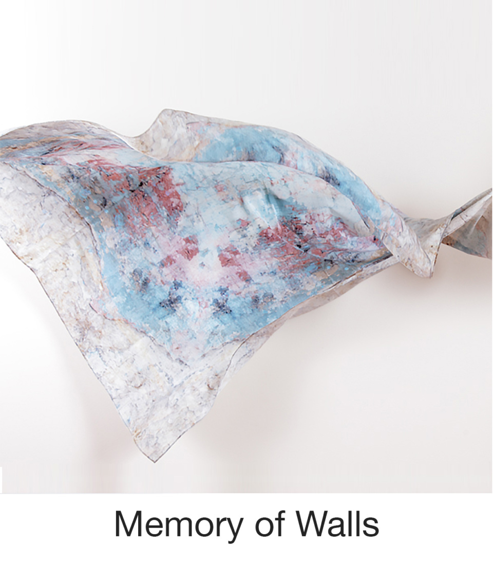 Susan Trigg Scarf fly Memory of walls