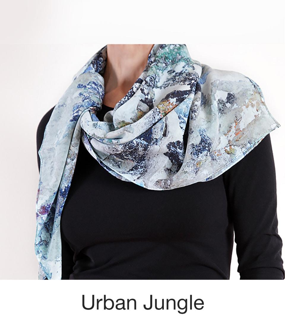 Susan Trigg Scarf model Ubran Jungle