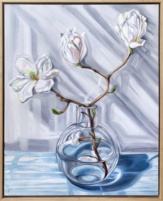 Alicia Cornwell Magnolia Reflections In Blue 1