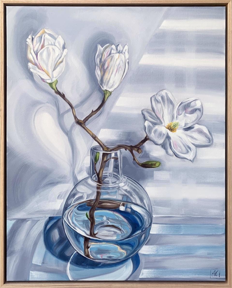 Alicia Cornwell Magnolia Reflections In Blue 2