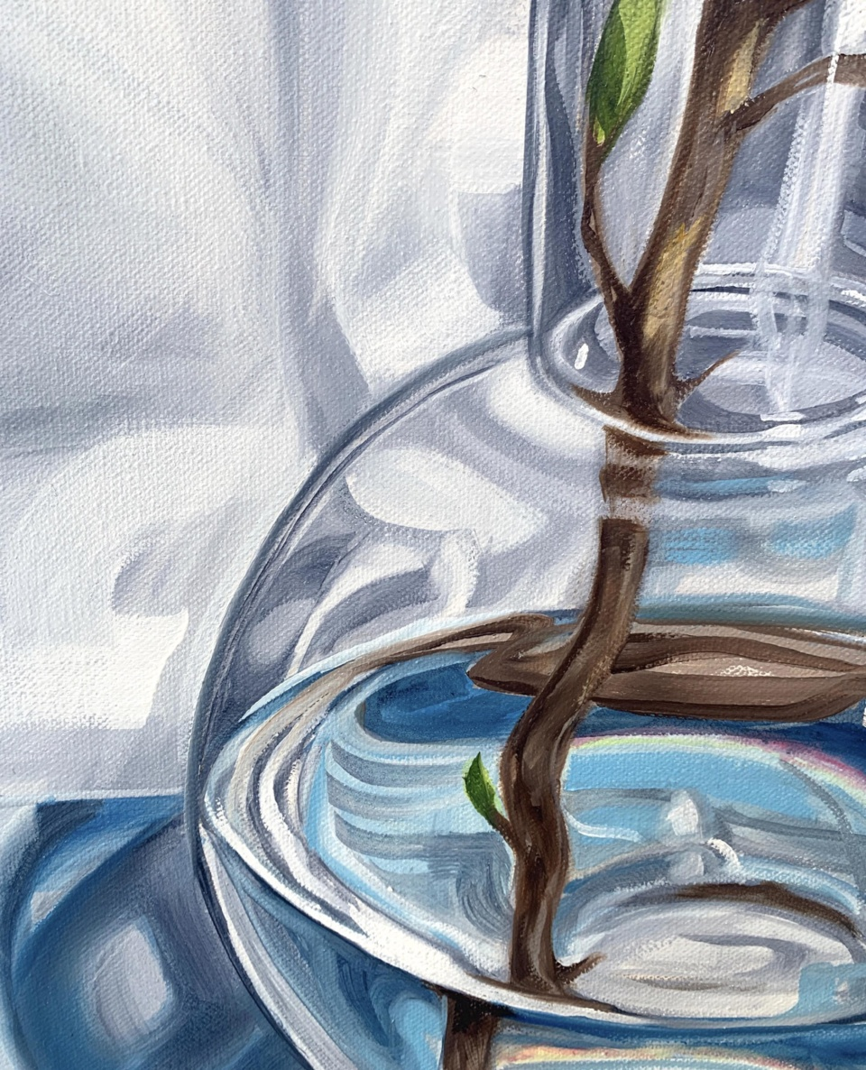 Alicia Cornwell Magnolia Reflections In Blue 2 detail