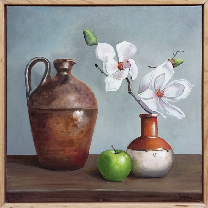 Laura White Magnolias And Bendigo Pottery