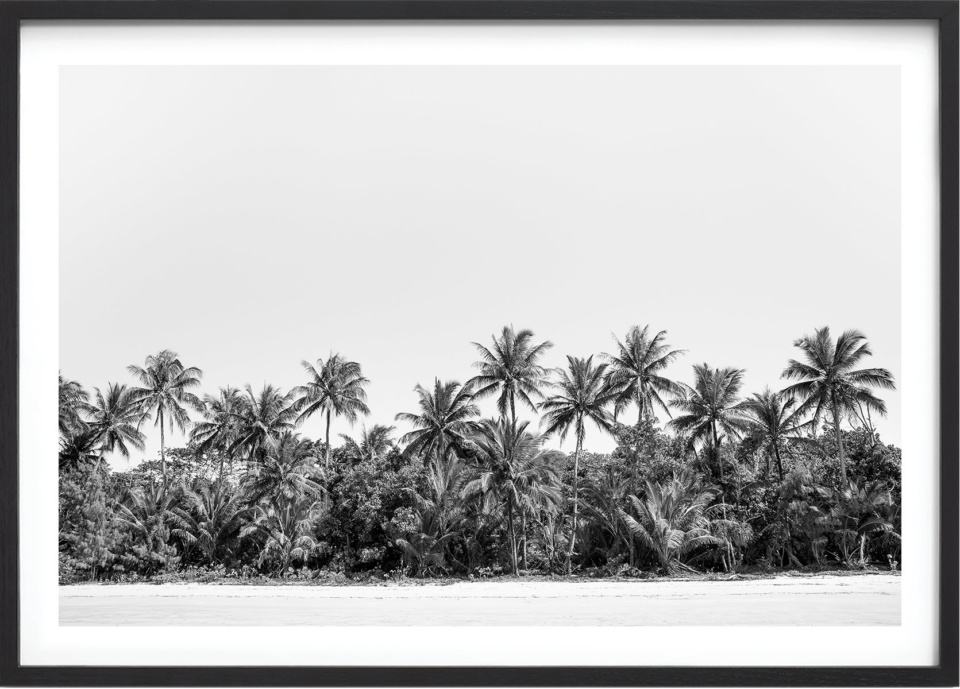 Michelle Schofield Mission Beach Blac Framed photographic print