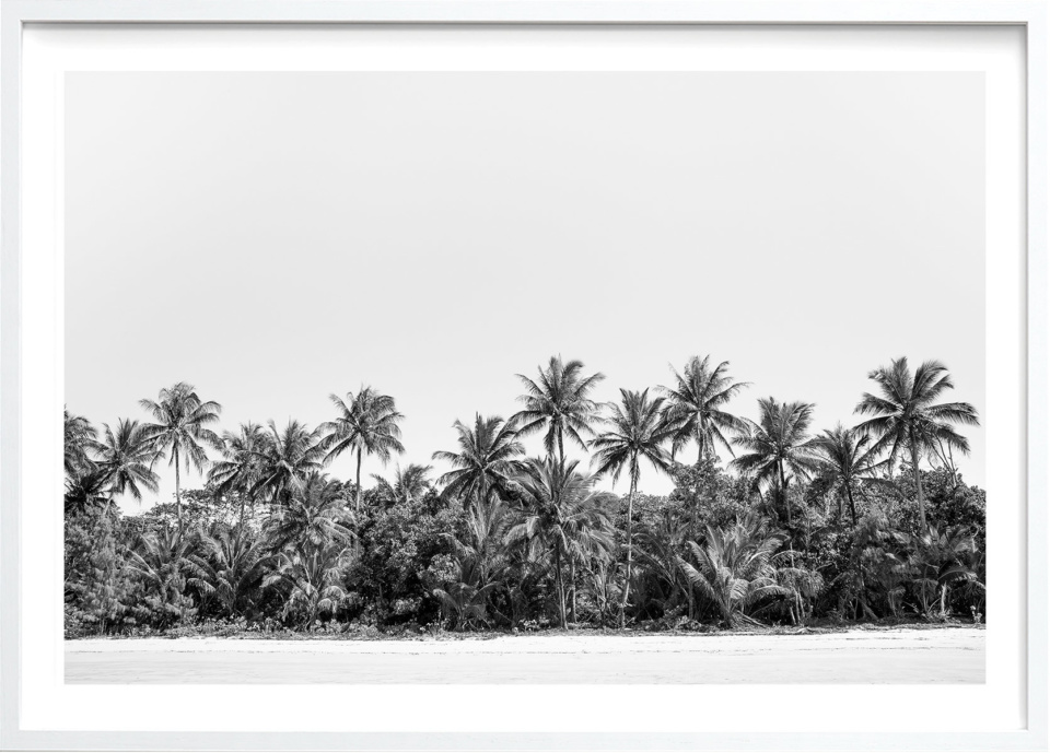Michelle Schofield Mission Beach White Framed photographic print
