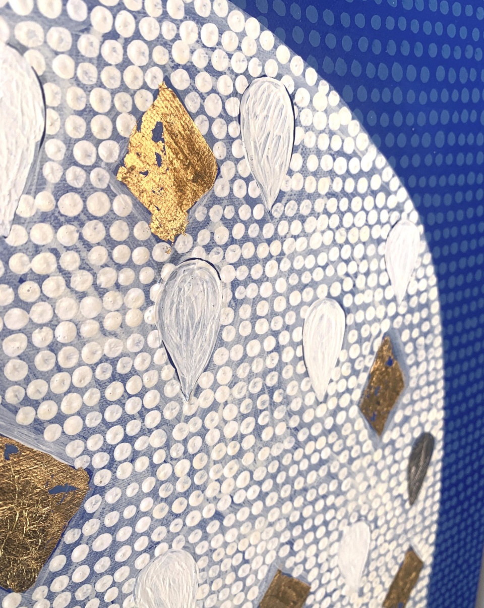 Patricia Heaslip Mosaic Mountain Detail