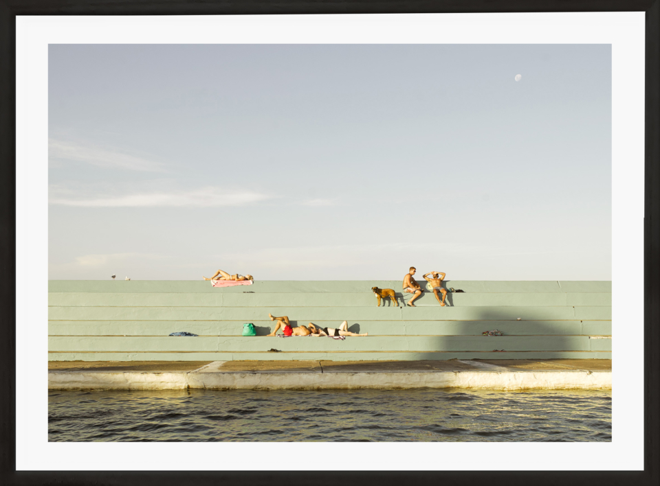 Craig Holloway Newcastle Ocean Baths 02 Framed Black