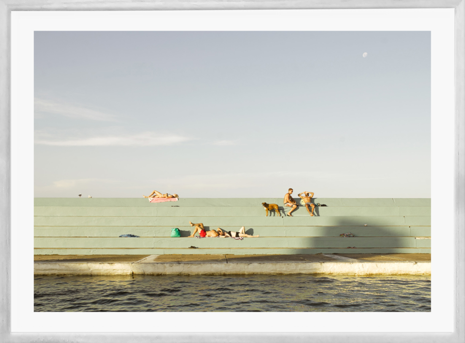 Craig Holloway Newcastle Ocean Baths 02 Framed White