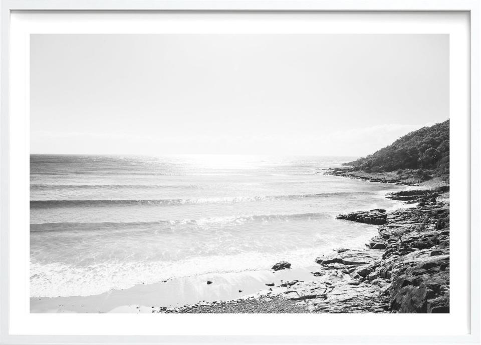 Michelle Schofield Noosa Heads White Framed Photographic Print