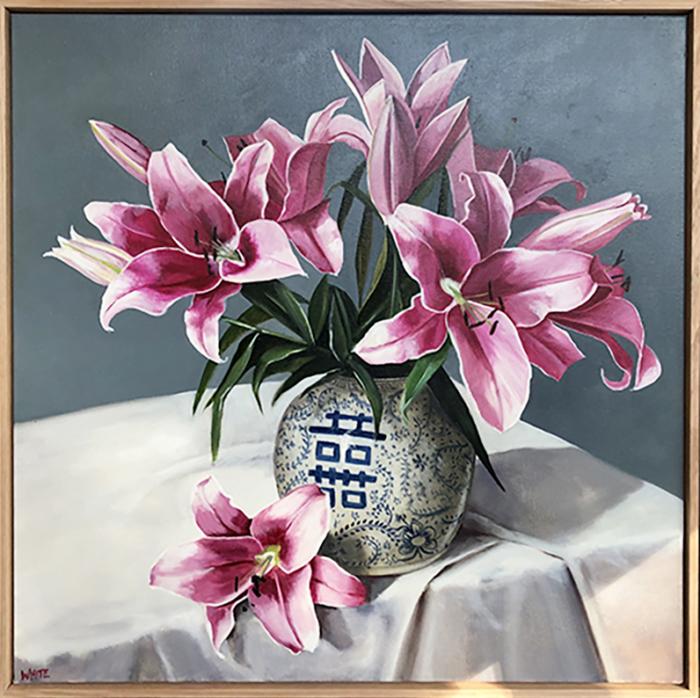 Laura White Oriental Lillies