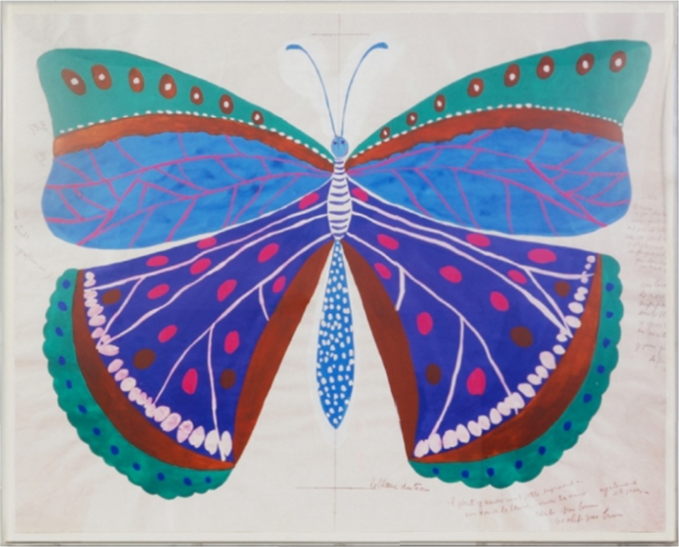 Paule Marrot Papillion Bleu 32