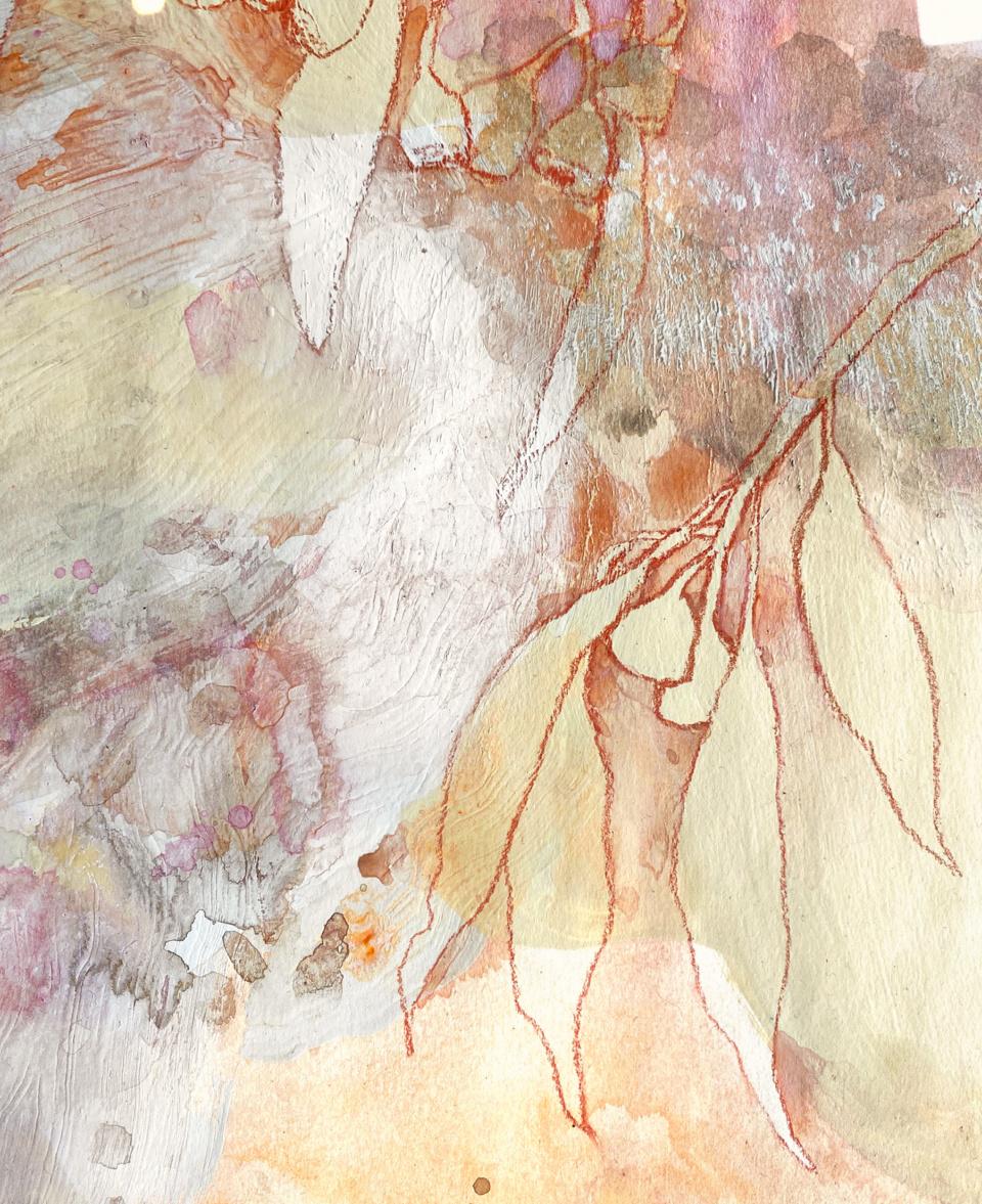 Jo Dyer Pastel Gumnuts I Detail