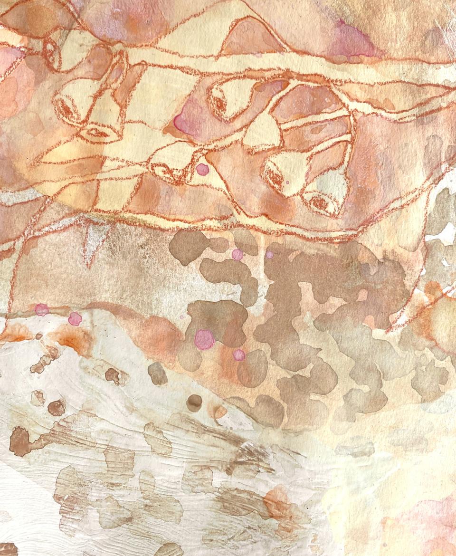Jo Dyer Pastel Gumnuts II detail