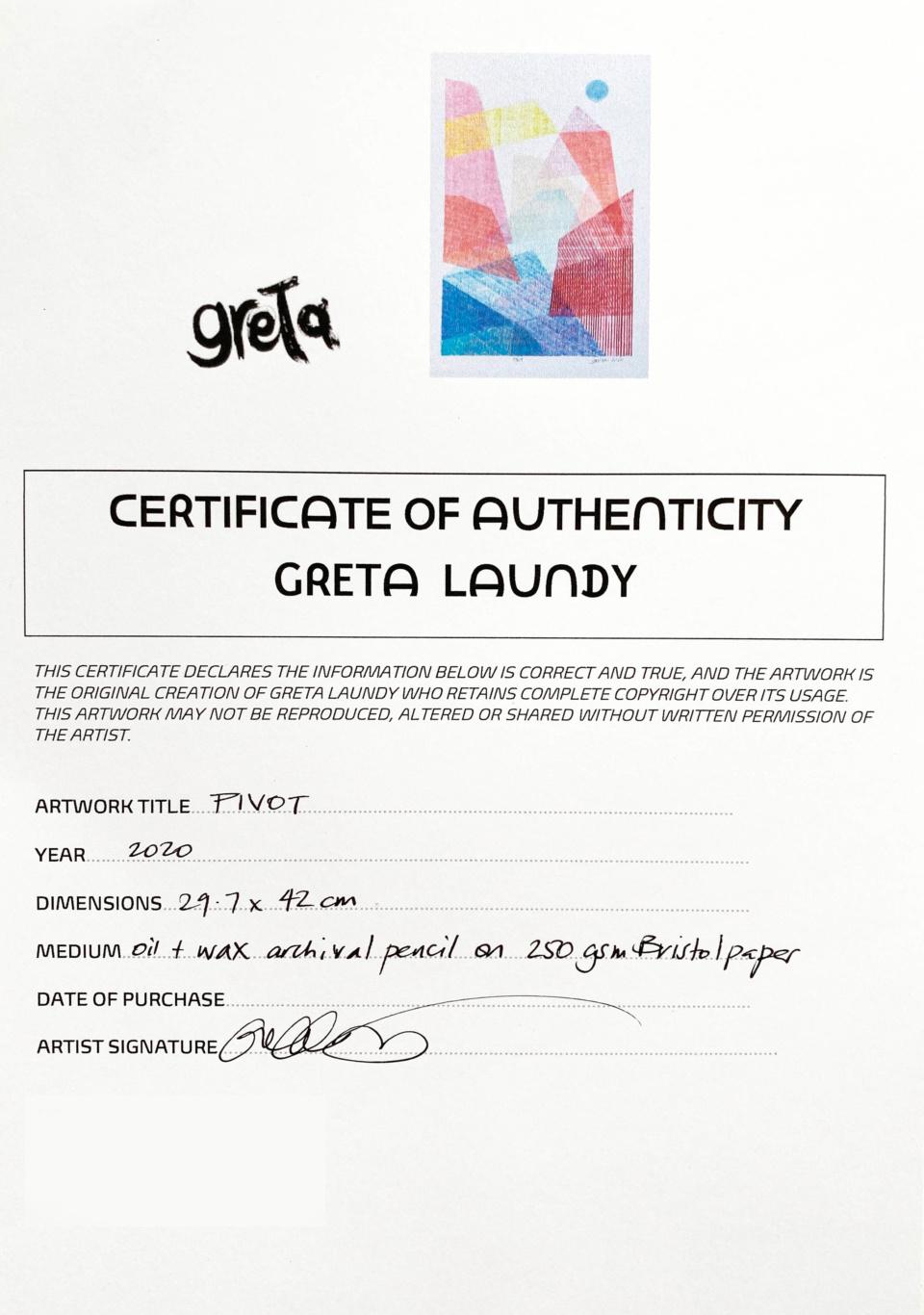 Greta Laundy Pivot COA