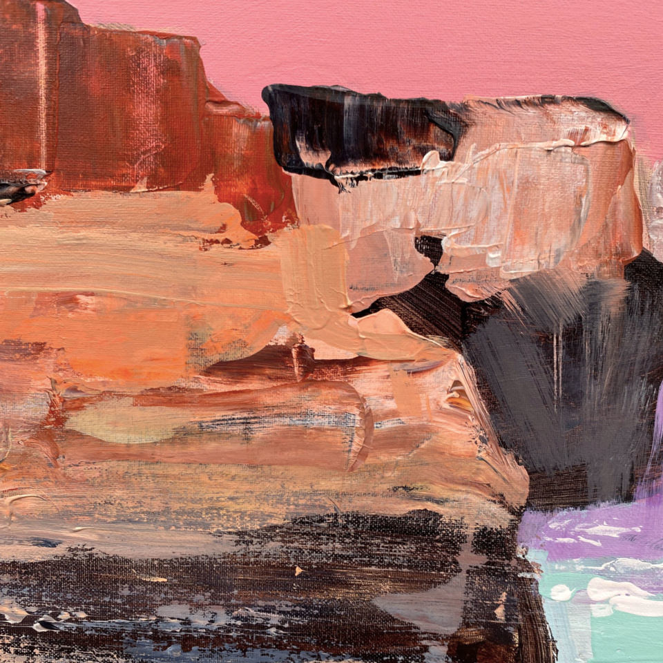 Gina Fishman Rugged Splendour Great Ocean Rd Detail
