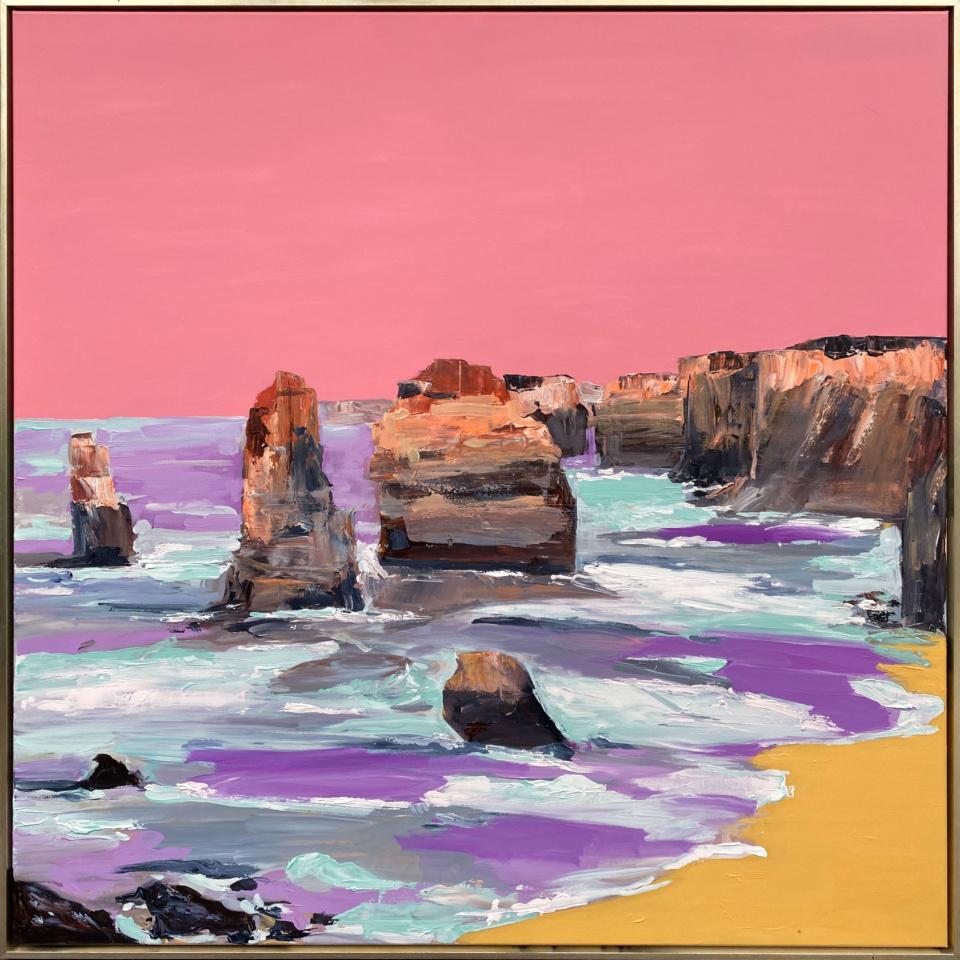 Gina Fishman Rugged Splendour Great Ocean Rd Framed Gold