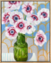 Alicia Cornwell Silver Anenomes and the Green Vase Framed