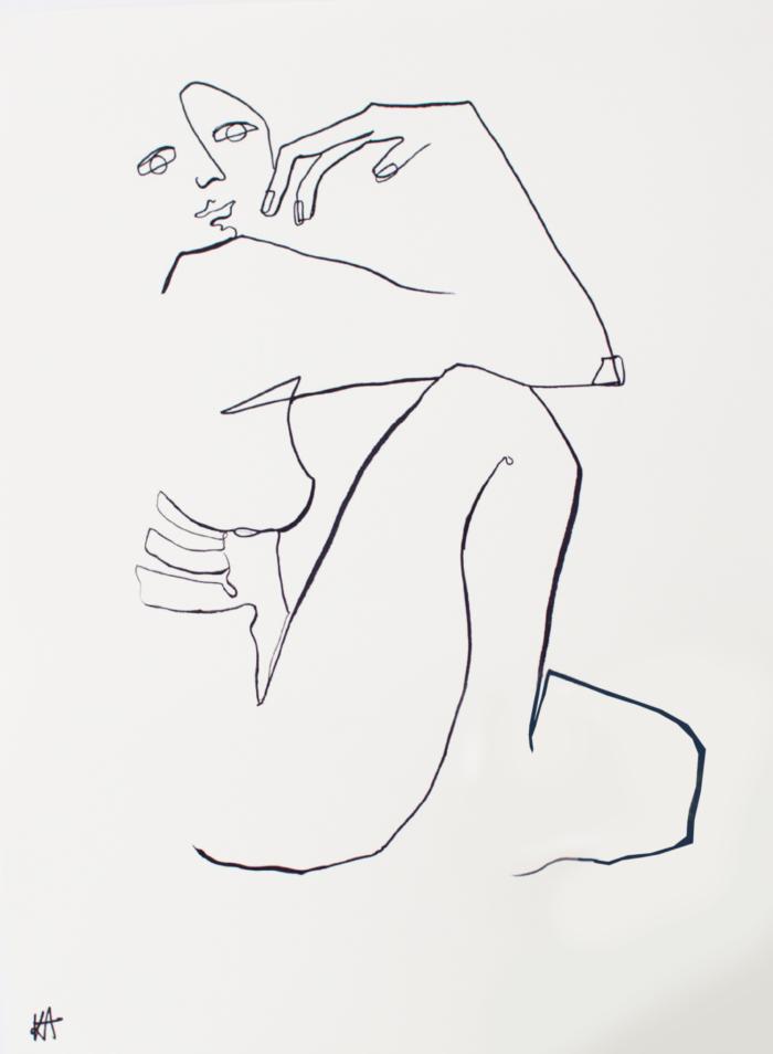 Kate Florence Sitting Sideways Ii