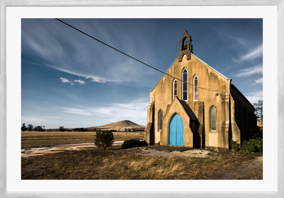 Craig Holloway Smeaton Church Framed White