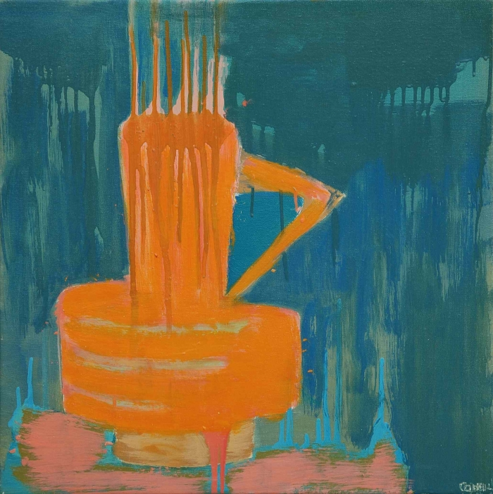 Still Life Burnt Orange Vase 50 X 50Cm 600