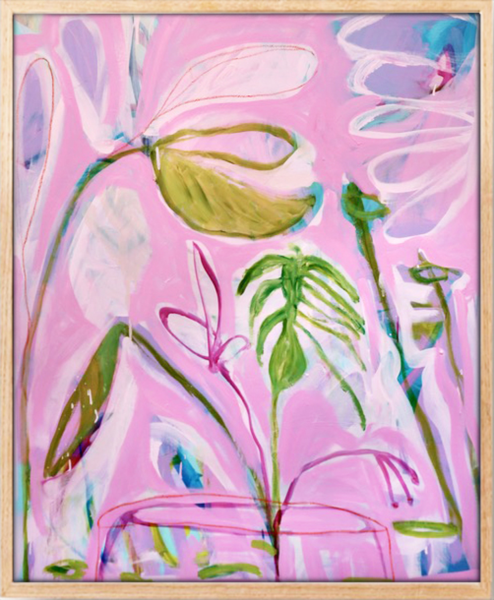 51613949845de5 Sarah Whitbread Still Lifein Pink Framed