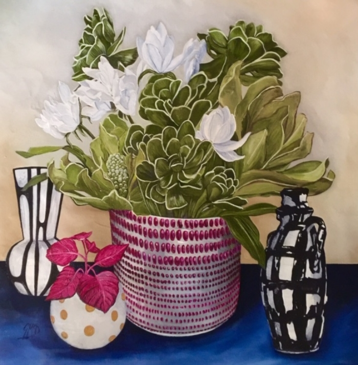 Gwenda Mcdougall Succulents Still Life