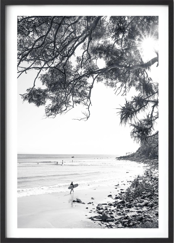 Michelle Schofield Surfer Black Framed Photographic Print