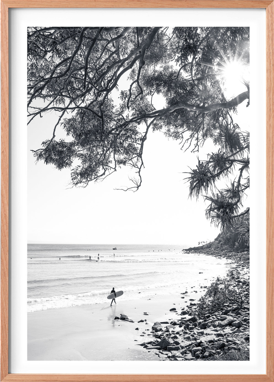 Michelle Schofield Surfer Raw Framed Photographic Print