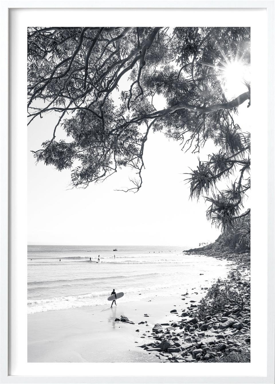 Michelle Schofield Surfer White Framed Photographic Print