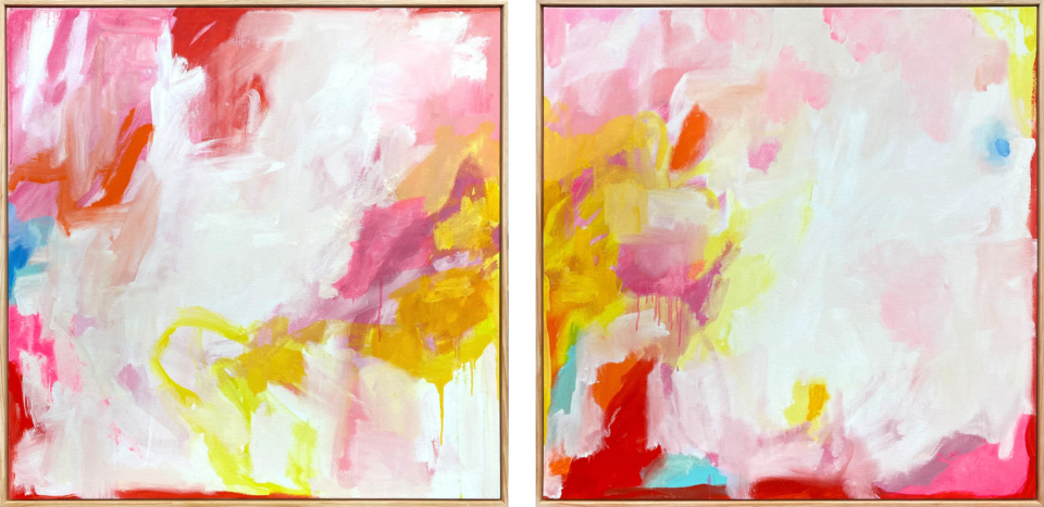 Hanna Rose The Fire Within Diptych