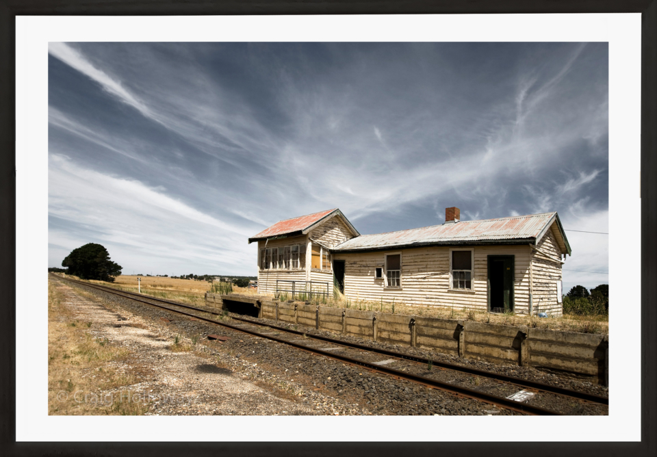 Craig Holloway Trawalla Railway Station Framed Black