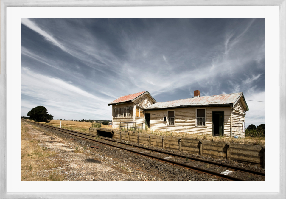 Craig Holloway Trawalla Railway Station Framed White