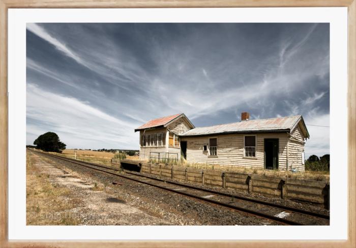 Craig Holloway Trawalla Railway Station Framed Raw